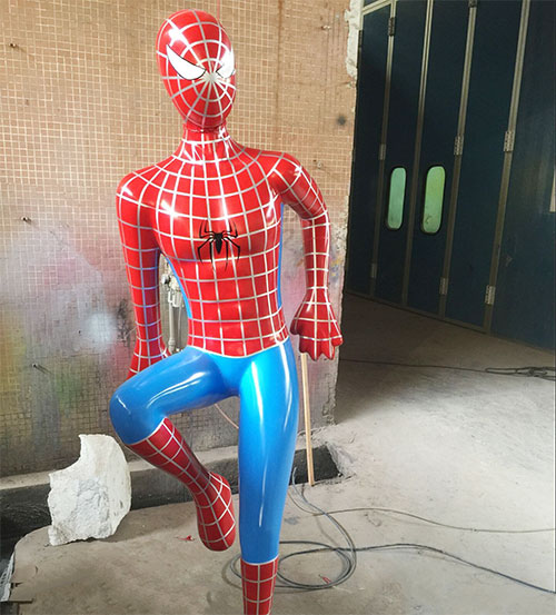 玻璃钢蜘蛛人雕塑