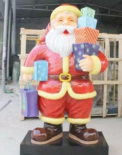 玻璃钢圣诞老人雕塑