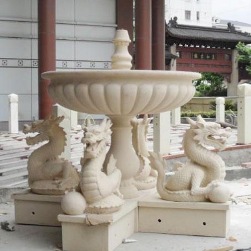 玻璃钢砂岩喷泉雕塑