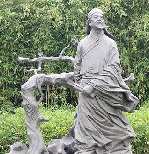 玻璃钢公园诗人肖像雕塑