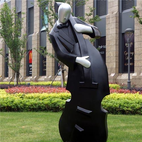 玻璃钢校园抽象人物雕塑