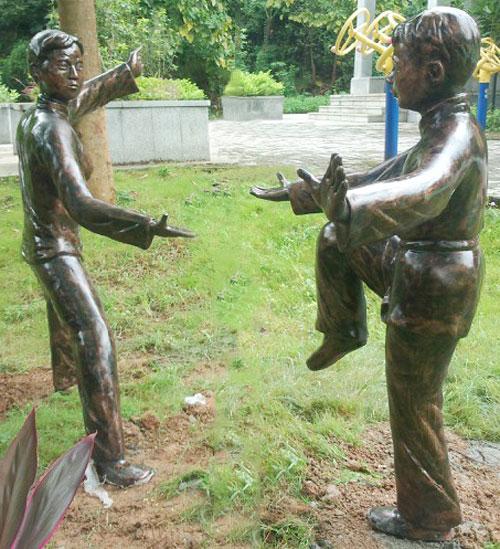 玻璃钢园林人物雕塑