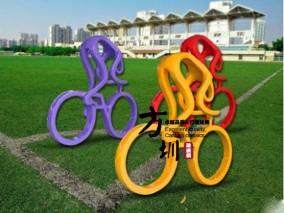 自行车玻璃钢城市雕塑
