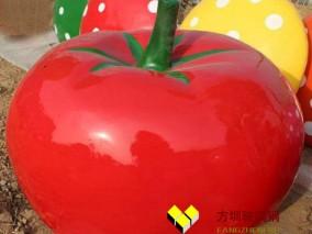 玻璃钢西红柿仿真雕塑