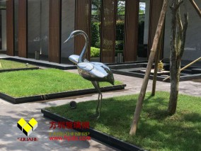 玻璃钢庭院鹤雕塑