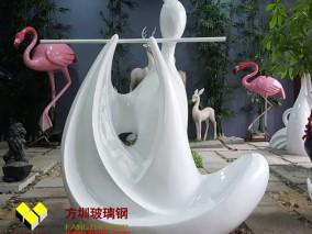 玻璃钢吹箫女雕塑