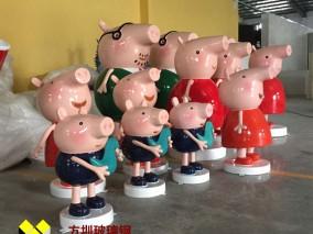玻璃钢小猪佩奇卡通雕塑