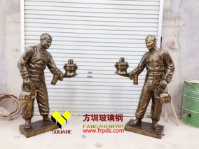 店铺迎宾仿铜雕塑