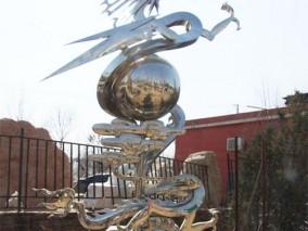 不锈钢中国龙雕塑