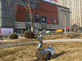 新华联不锈钢鹿雕塑