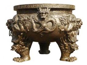 铸铜摆件鼎雕塑